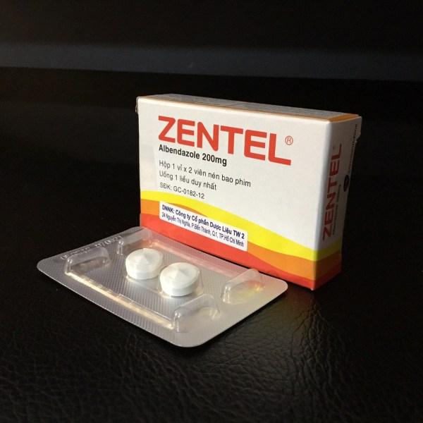 Tác dụng của thuốc Zentel